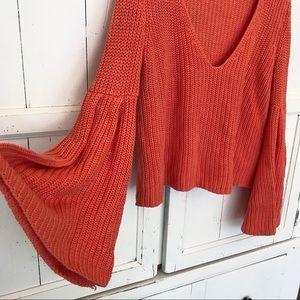 Free People chunky knit sweater size xs
